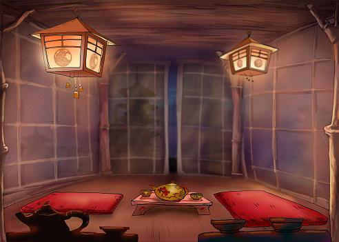 Chinese tea ceremony. Tea Room.