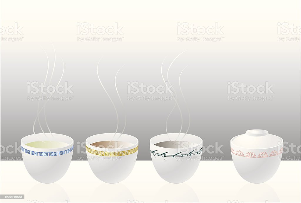 Chinese Tea party royalty-free stock vector art