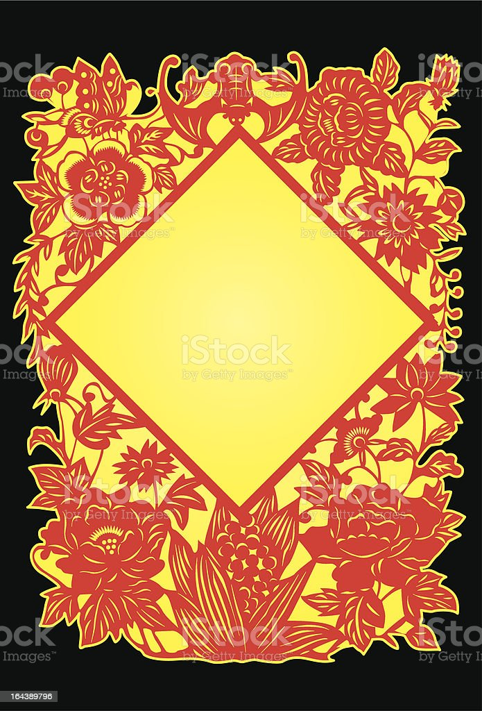 Chinese Traditional Paper Cutting Art royalty-free stock vector art