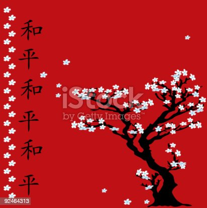 Chinese Tree With White Flowers