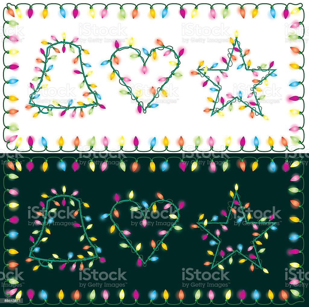 Chistmas Lights royalty-free chistmas lights stock vector art & more images of black background