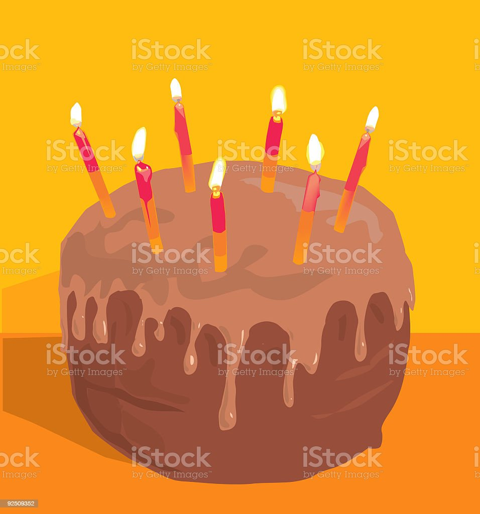 Chocolate Cake - Vector royalty-free chocolate cake vector stock vector art & more images of birthday