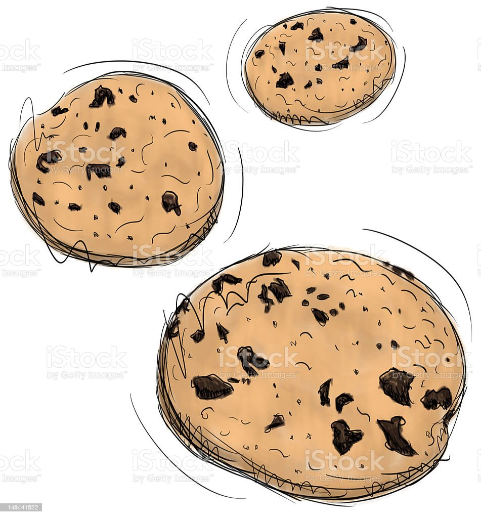 chocolate chip cookies clipart vector royalty free chocolate chip cookie clip vector images 862