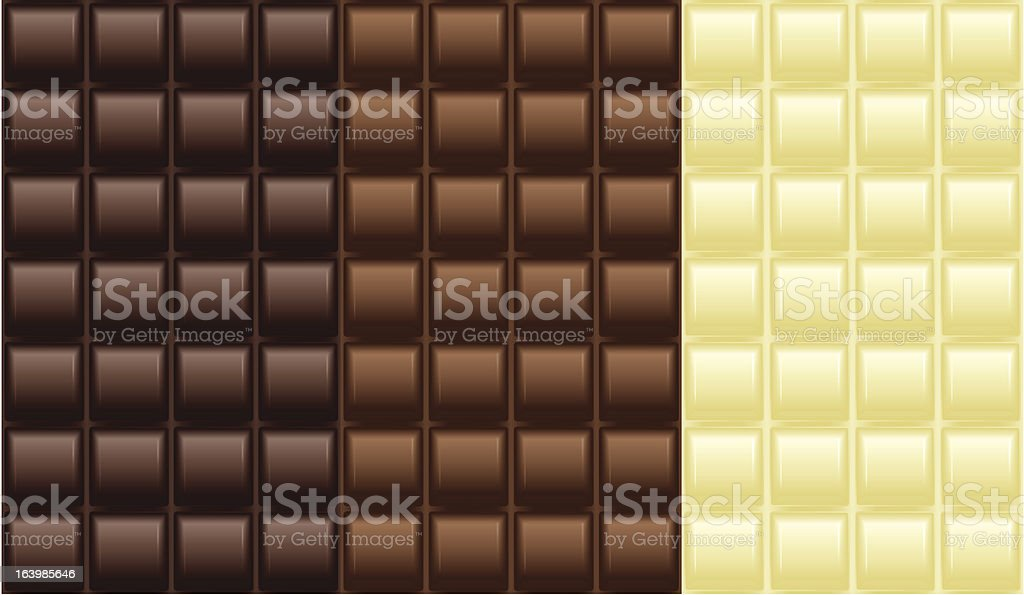 Chocolate tablet pattern royalty-free stock vector art