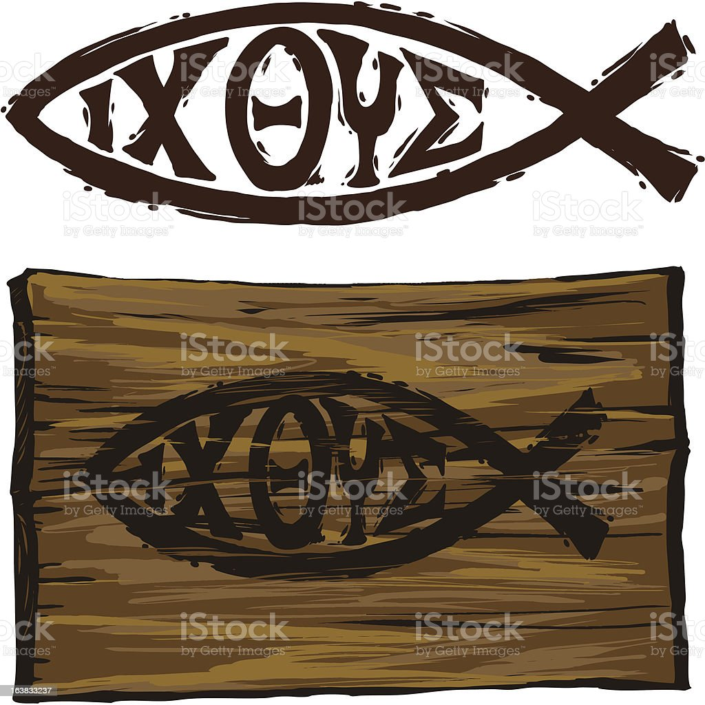 Christian Fish Symbol Stock Vector Art More Images Of Christianity