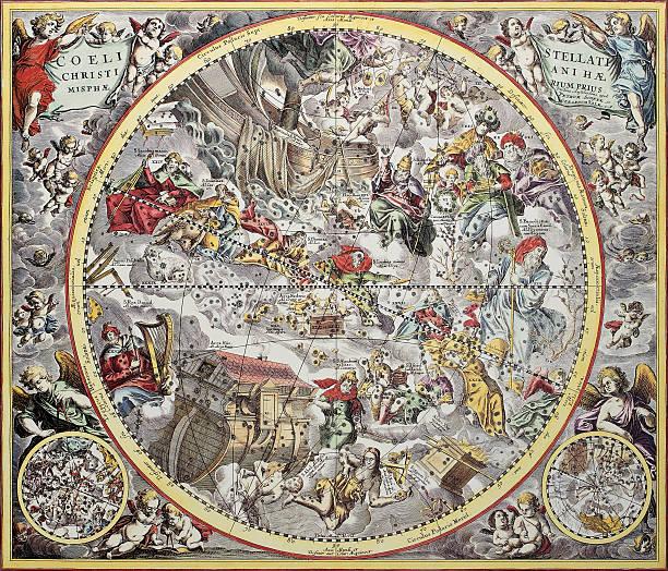 ilustrações de stock, clip art, desenhos animados e ícones de christiani haemisphaerium - mapa das estrelas