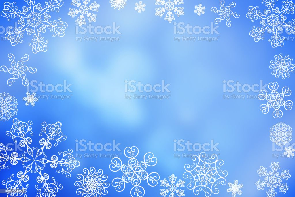 Christmas Abstract Winter Shiny Snow Bokeh Background With