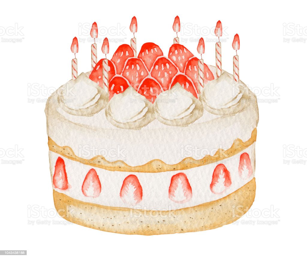 Christmas And Birthday Cake Stock Illustration - Download