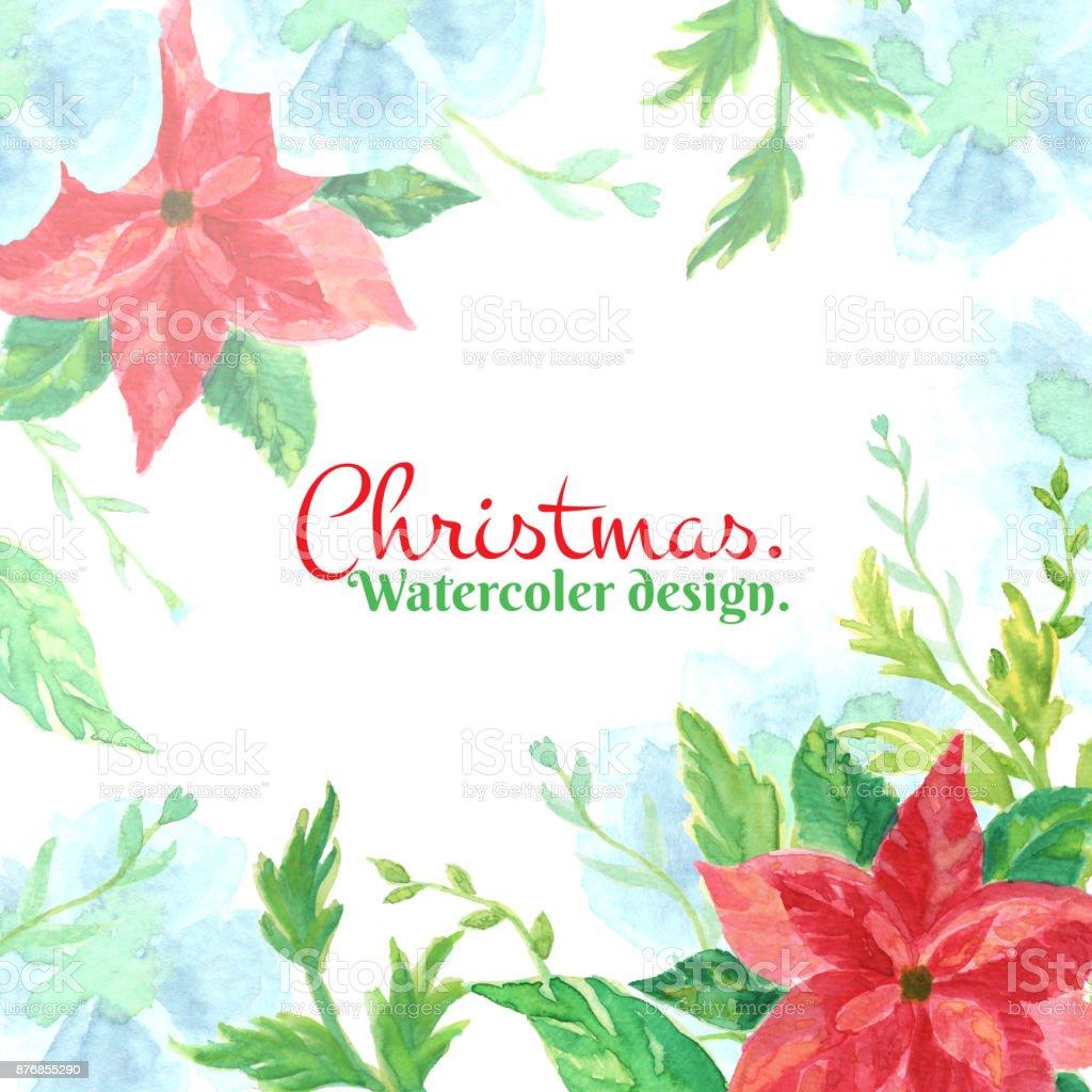 Weihnachten Und Neujahr Karte Aquarell Clipartgrafiken Mit ...