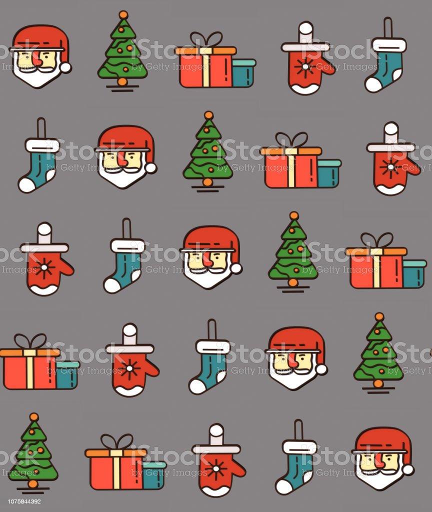 Weihnachten Geschenke 2019.Weihnachten Und Neujahr Illustrationen Für Den Urlaub Geschenke Und