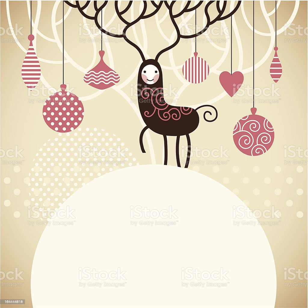 Christmas and New Year's card royalty-free stock vector art