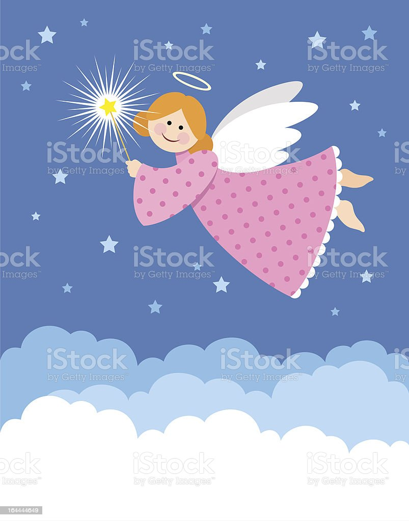 Christmas angel royalty-free stock vector art