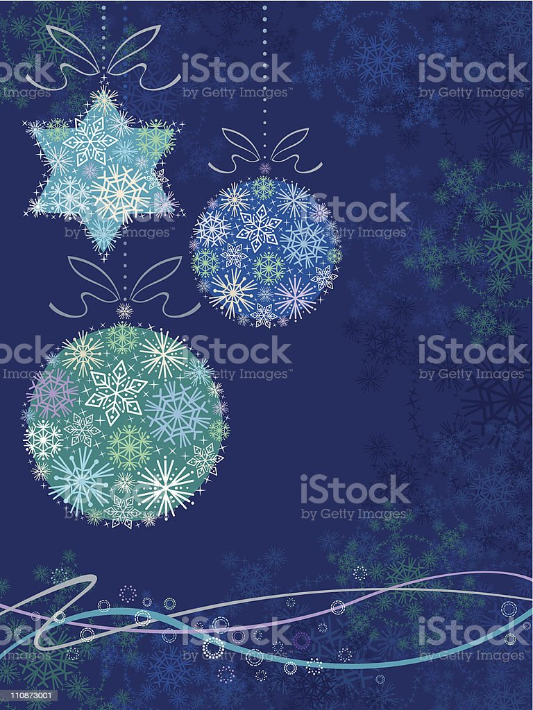 Christmas Background (Blue) royalty-free stock vector art