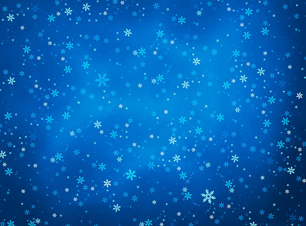 Christmas background with a snow vector art illustration