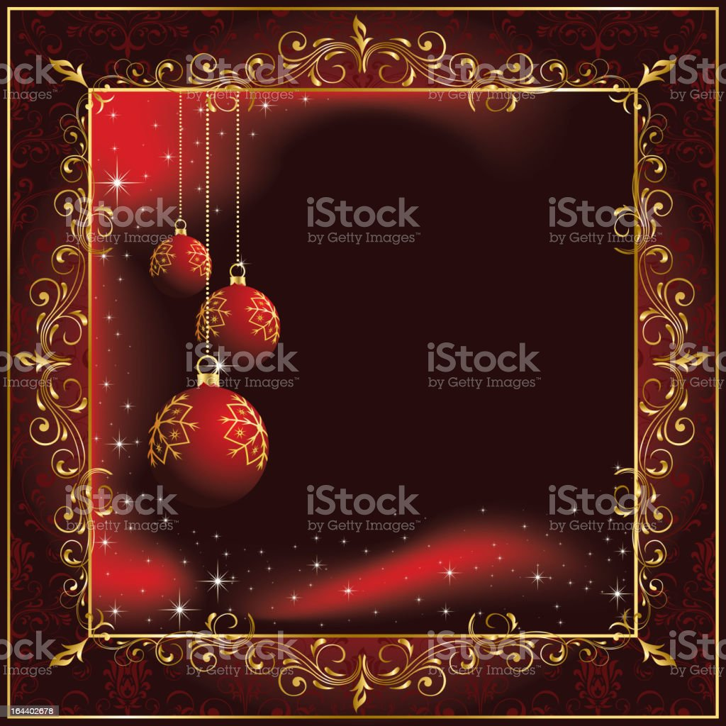 Christmas background with balls royalty-free stock vector art