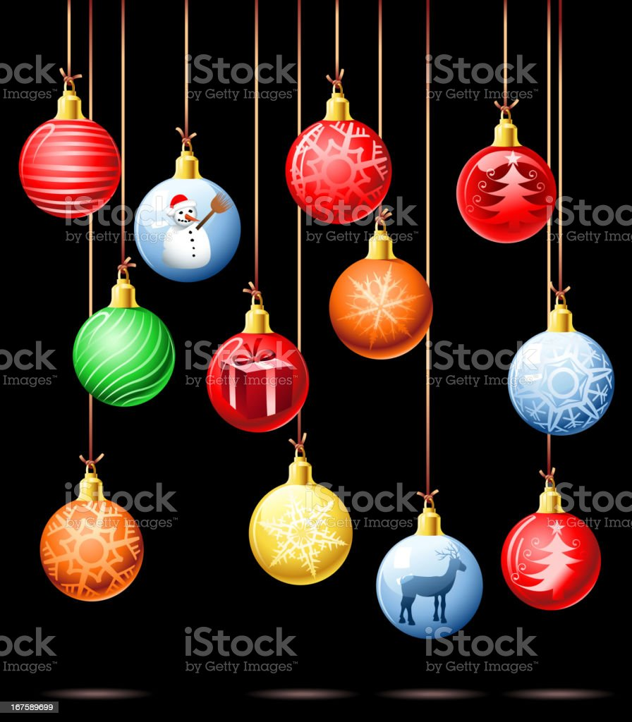 christmas ball set royalty-free christmas ball set stock vector art & more images of backdrop