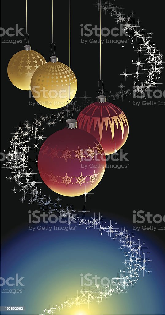 Christmas Balls vector art illustration