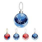 Vector Illustration of Christmas balls.