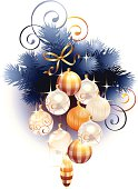 Illustration on New Year's and Christmas