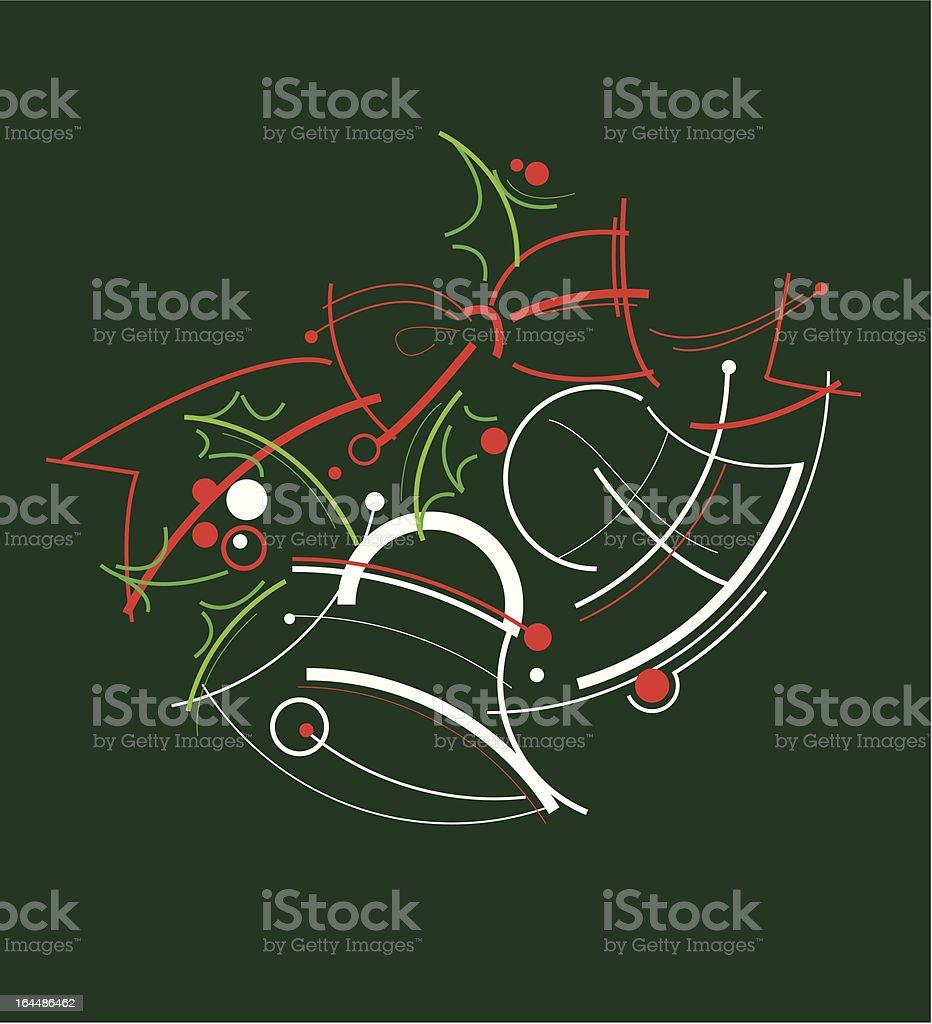 Christmas bells vector art illustration