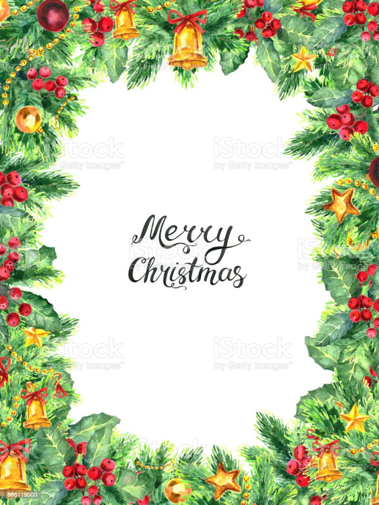 Christmas Boarder.Christmas Border Isolated On White Background Stock Illustration Download Image Now