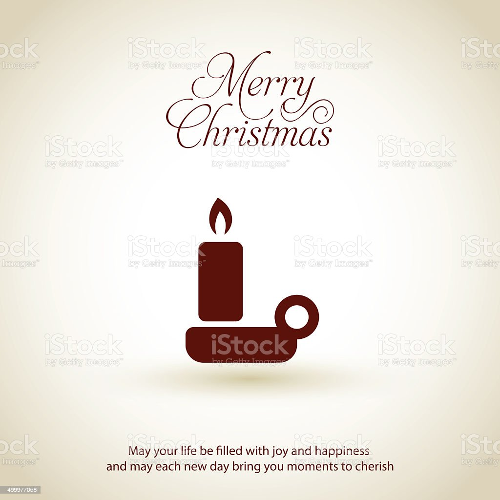 Christmas candle icon. Xmas Flat greeting card Design vector art illustration
