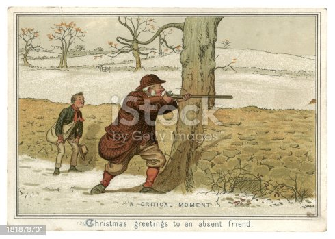 istock Christmas card from 1882 181878701