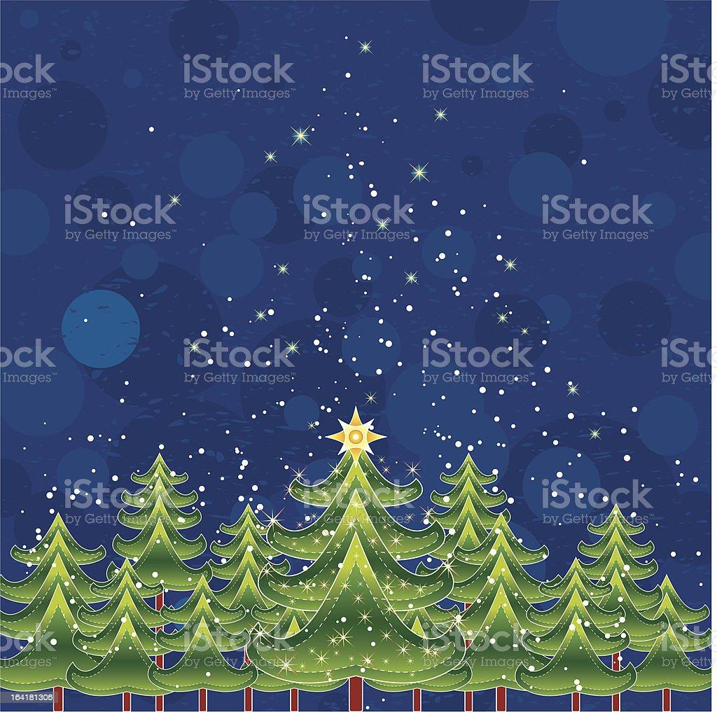 christmas card, vector royalty-free stock vector art