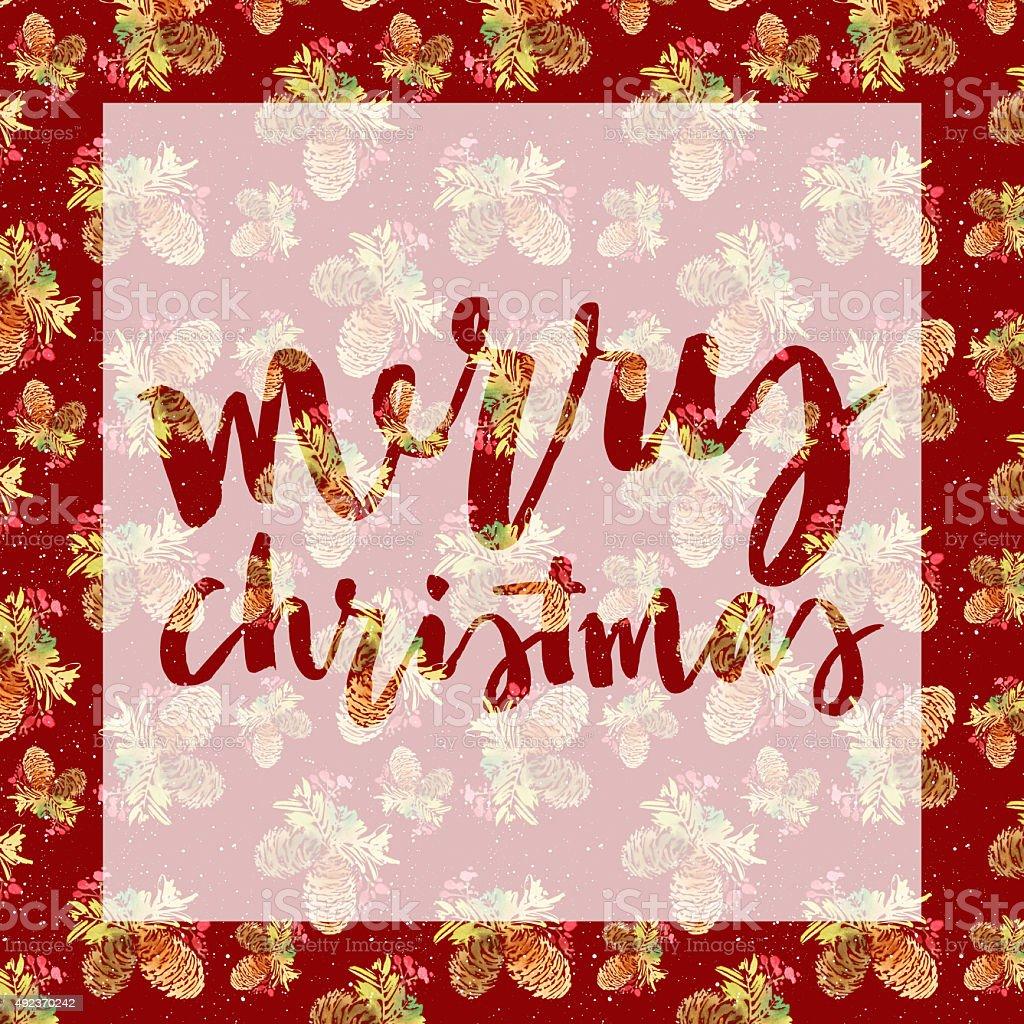 Christmas Card Watercolor Stock Vector Art 492370242 Istock