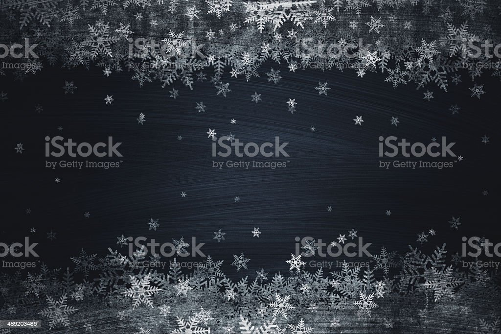 Christmas chalk drawing on blackboard vector art illustration