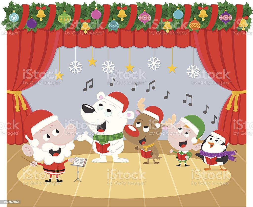 Weihnachtschor Stock Vektor Art und mehr Bilder von Aufführung - iStock