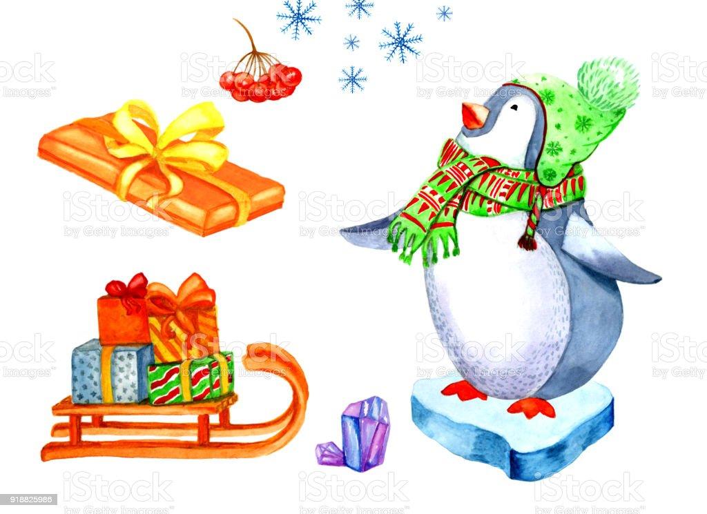 Weihnachten Clipartgrafik Aquarell Stock Vektor Art und mehr Bilder ...