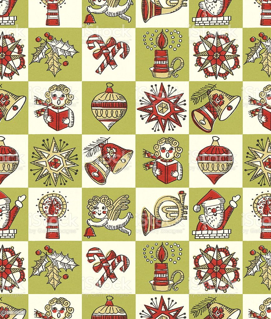 Christmas Collage royalty-free stock vector art