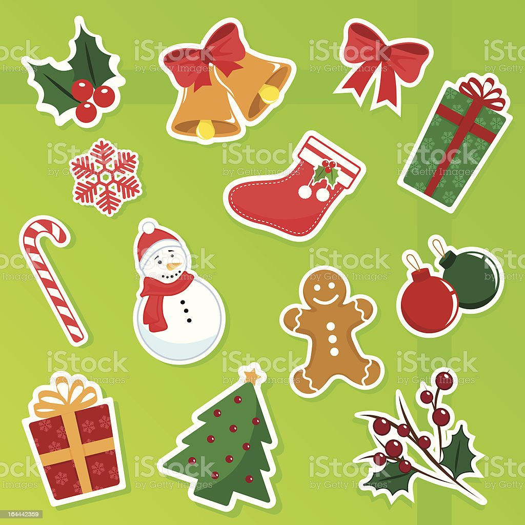 christmas collection royalty-free stock vector art