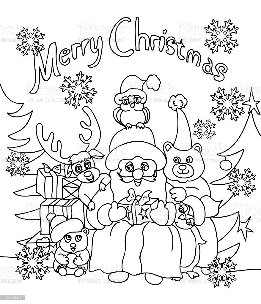 christmas coloring greeting card royalty free christmas coloring greeting card stock vector art