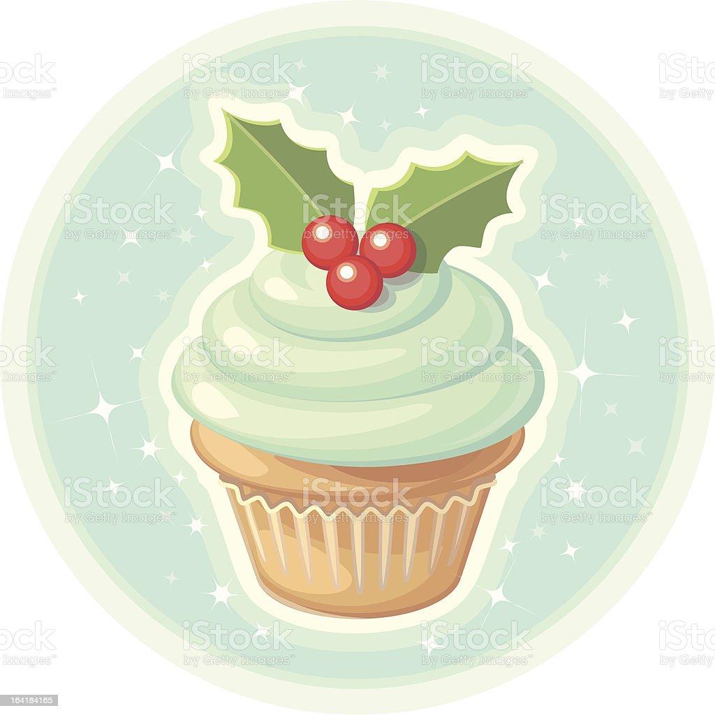 Christmas Cupcake royalty-free stock vector art