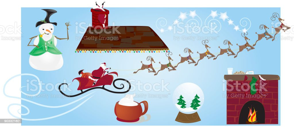 Christmas Cut n' paste royalty-free stock vector art