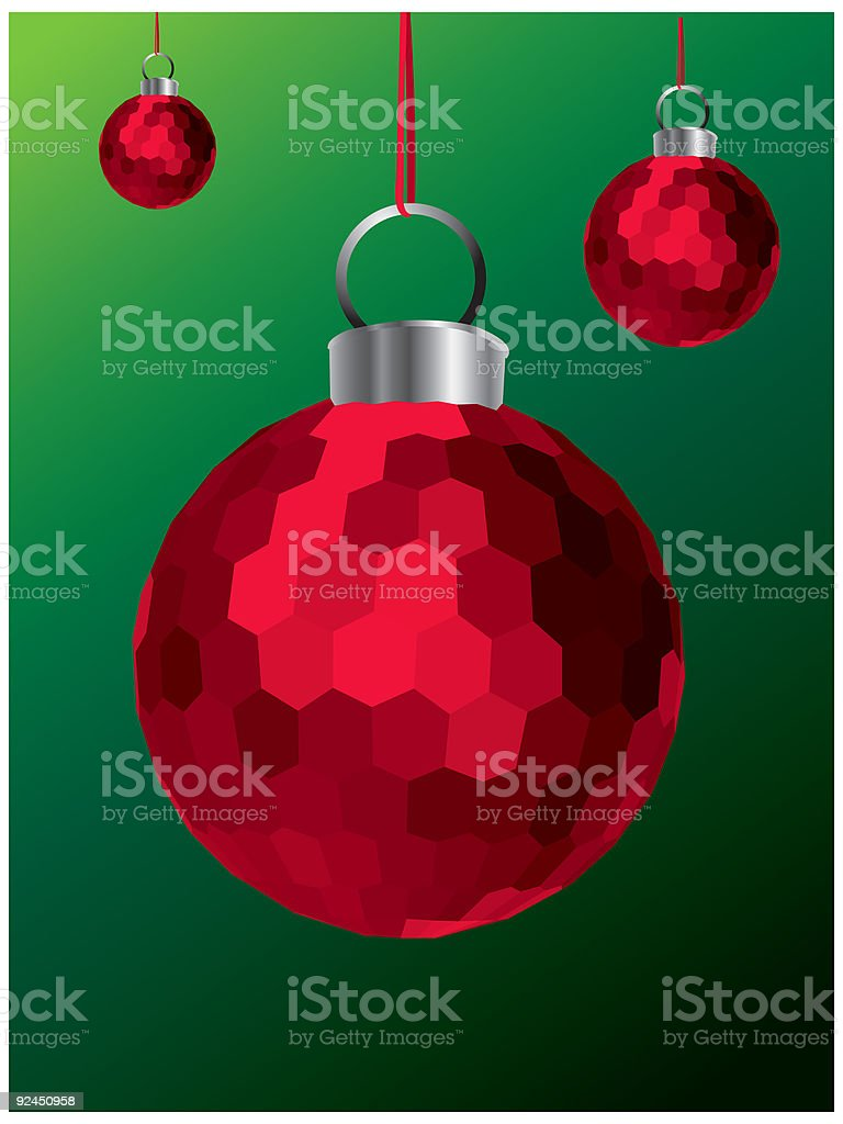 Christmas Decoration (Red) royalty-free stock vector art