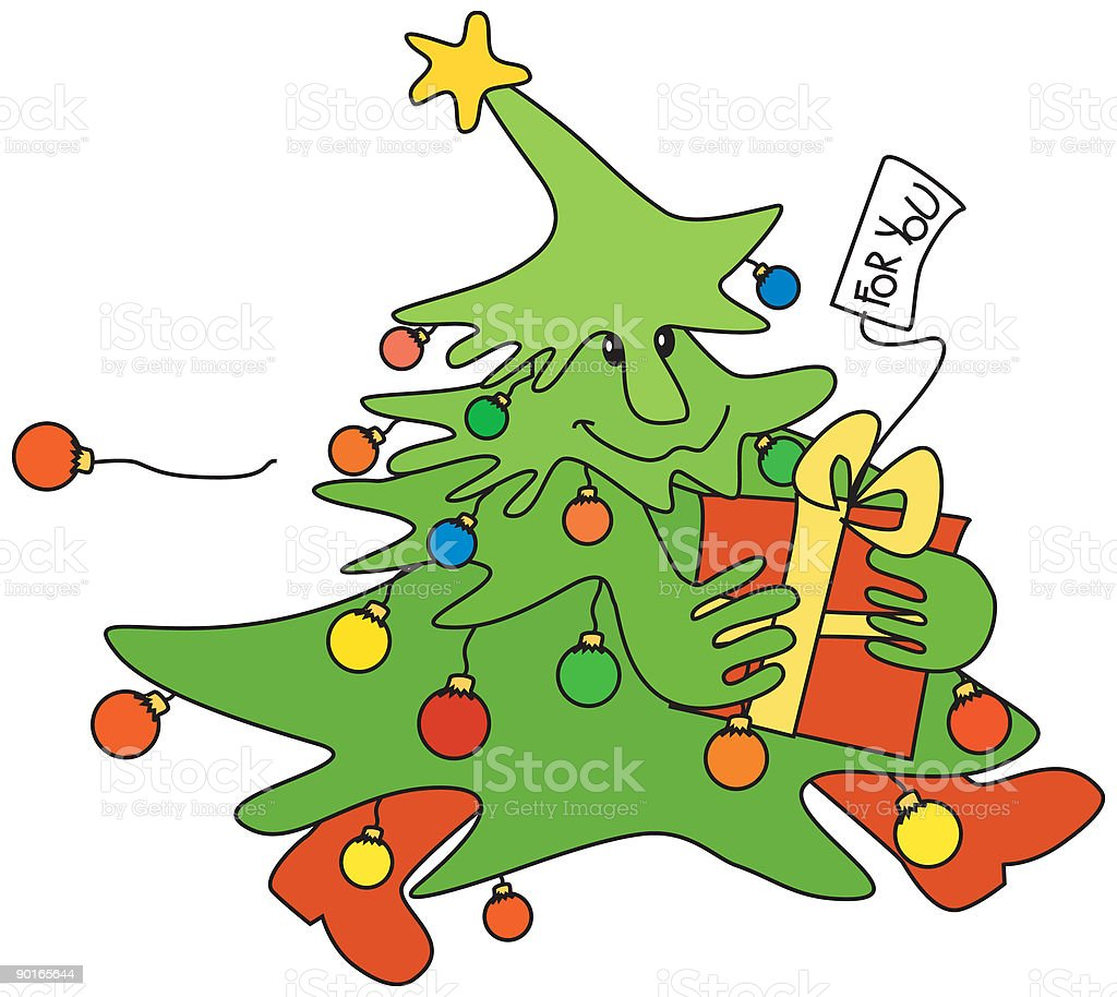 christmas delivery royalty-free stock vector art