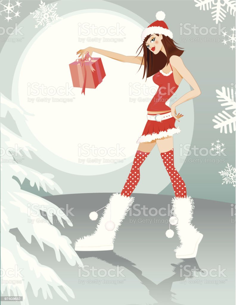 Christmas Doll royalty-free christmas doll stock vector art & more images of attitude