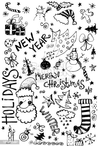 istock Christmas Doodle 153898691