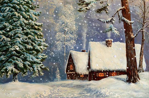 stockillustraties, clipart, cartoons en iconen met christmas fairyland - christmas cabin