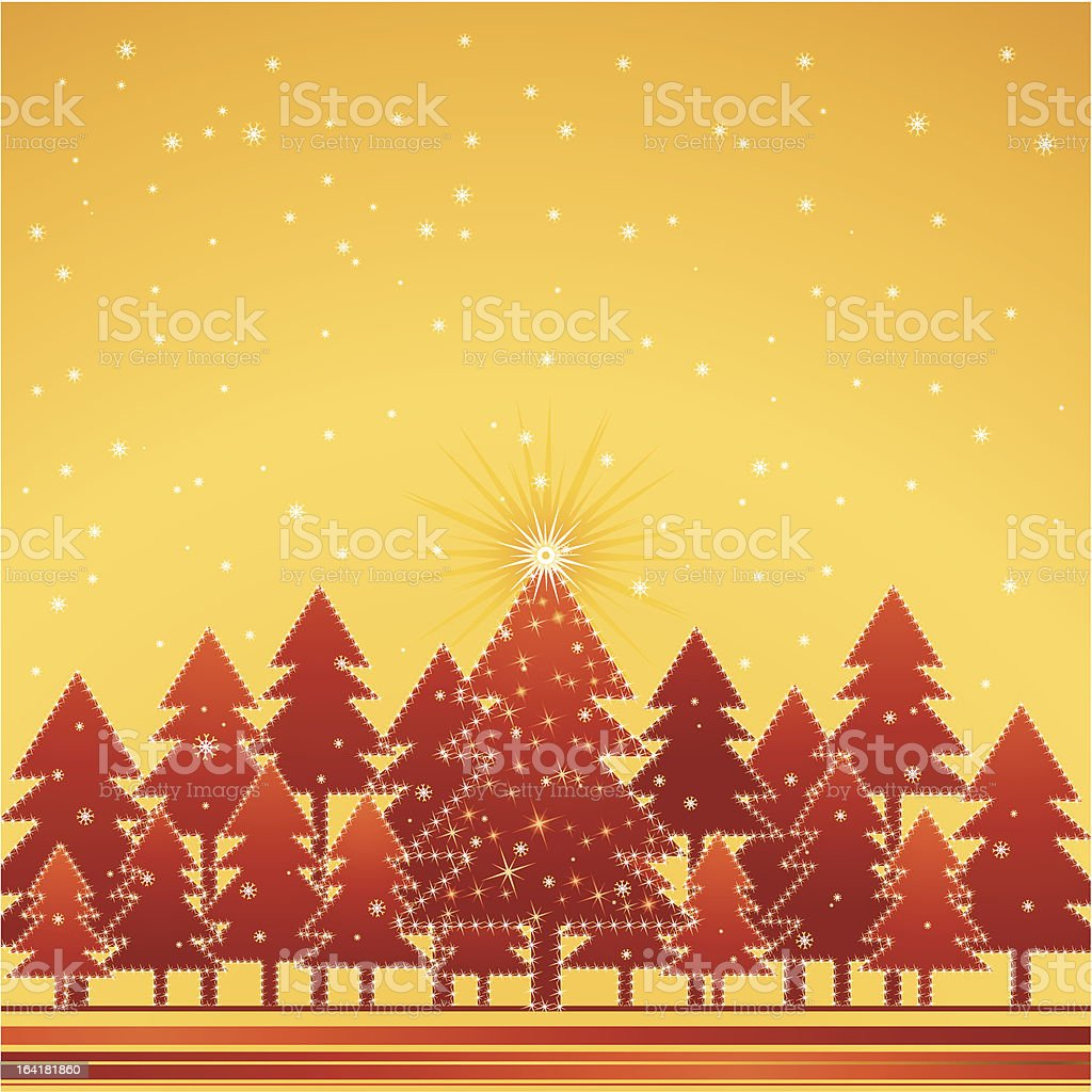 christmas forest, vector royalty-free stock vector art