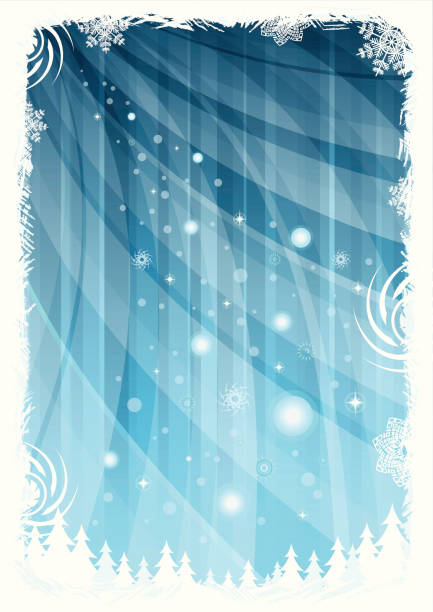 Christmas frame background vector art illustration