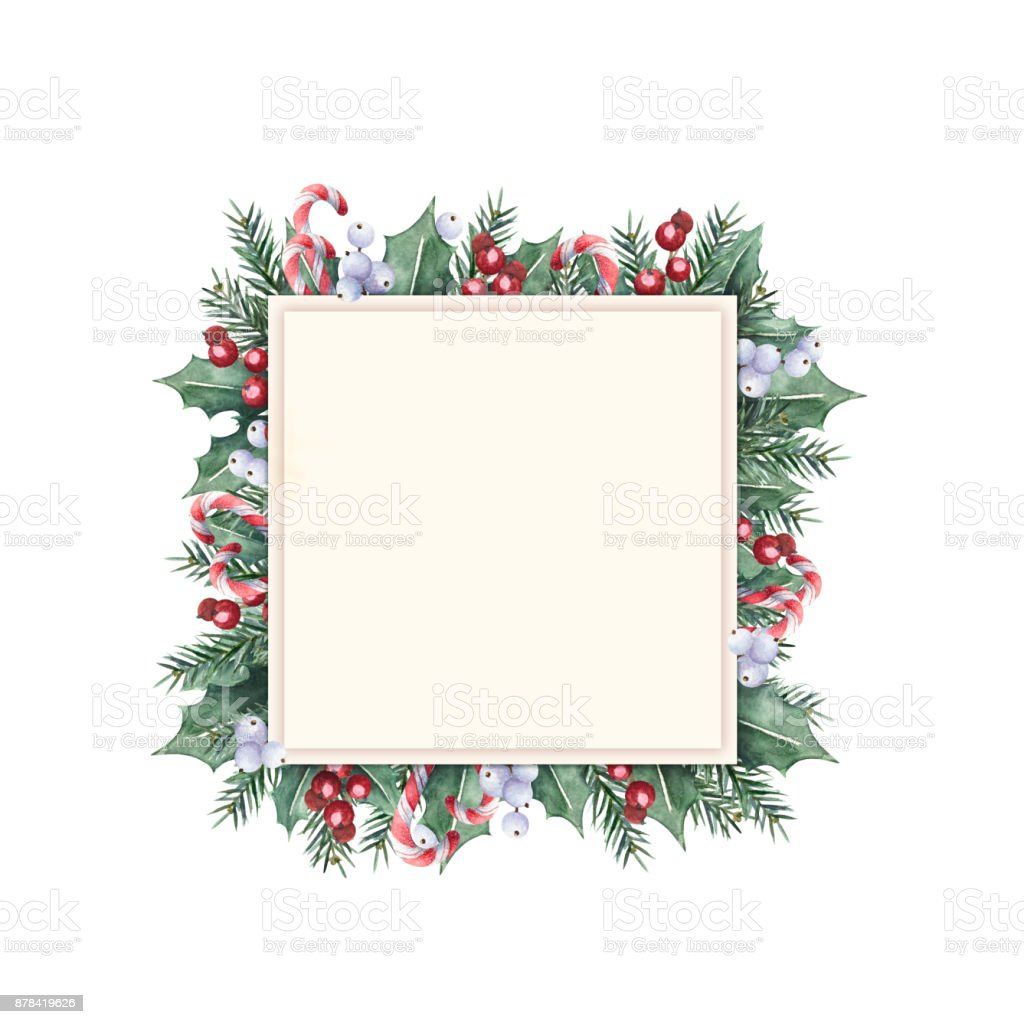 Christmas Frame Square Shape Stock Vector Art & More Images of Anise ...
