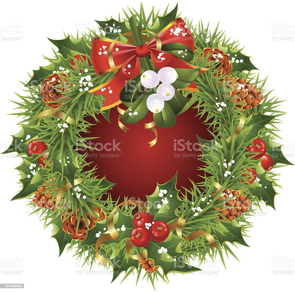 Christmas garland vector frame isolated on white background royalty-free christmas garland vector frame isolated on white background stock vector art & more images of backgrounds