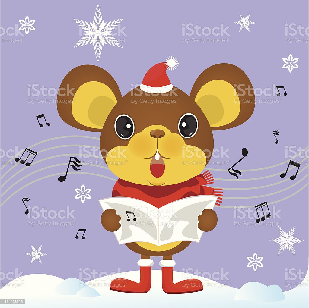 Christmas Gift A Song From Cute Mouse stock vector art 164403516 ...