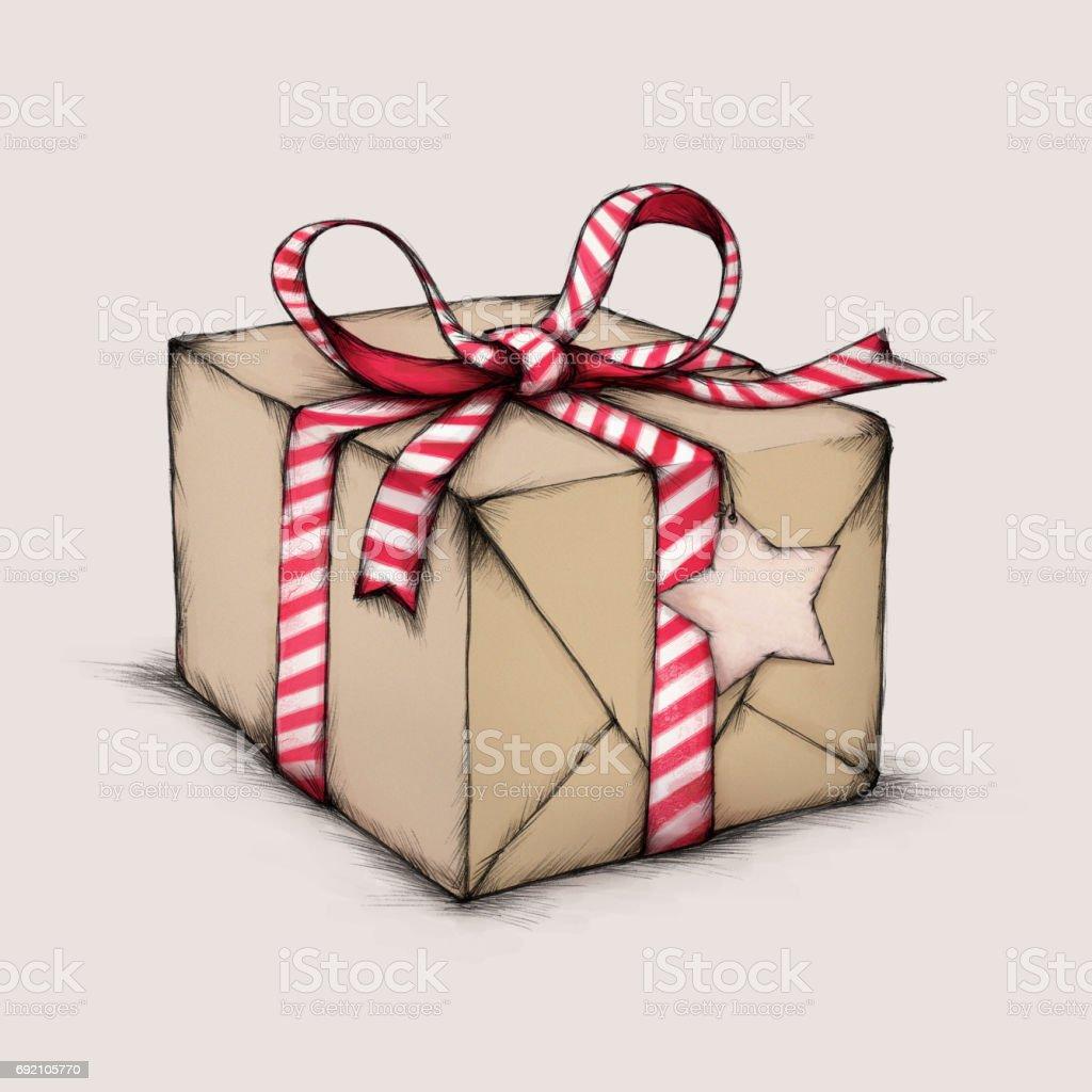 Weihnachts-Geschenk-Package – Vektorgrafik