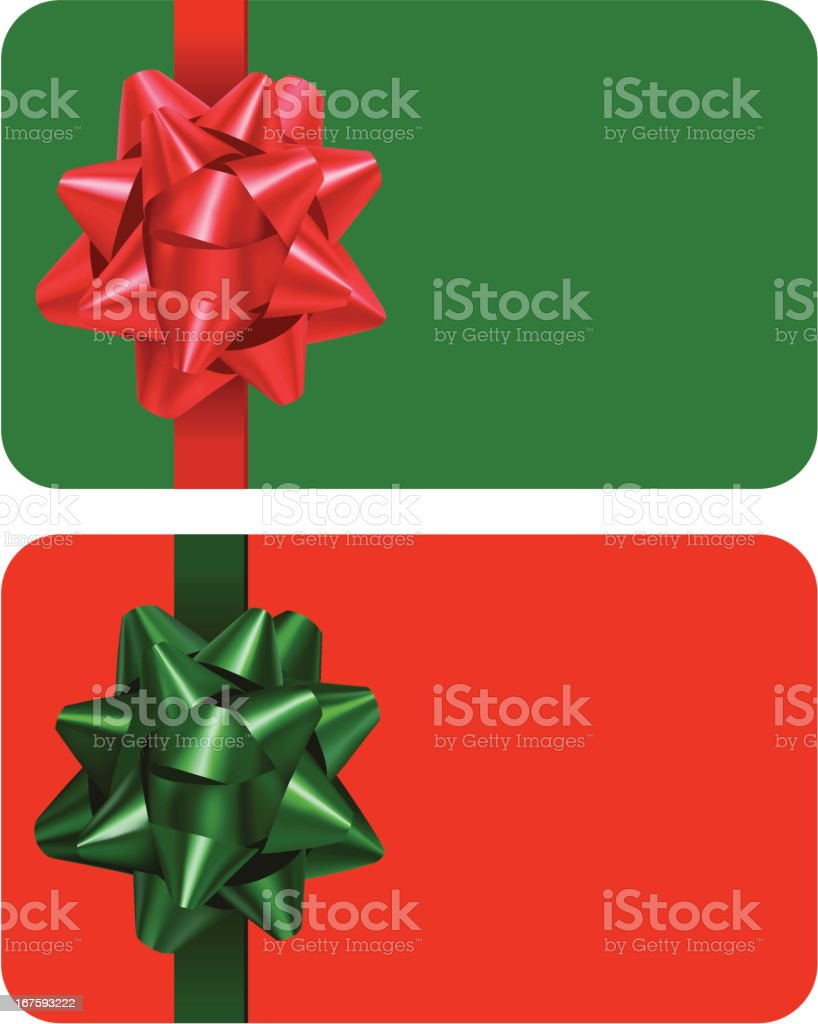 Christmas Gifts Cards royalty-free stock vector art