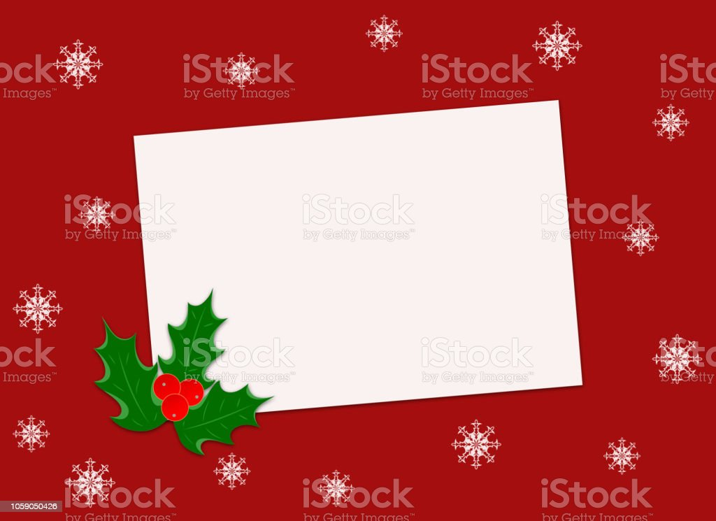 Christmas Greetings Letter.Christmas Greeting Card Letter Paper On Red Background Stock